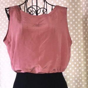 100% silk casual corner blouse